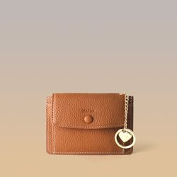 [이니셜 커스텀] Big pocket point wallet - Brown
