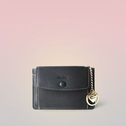 [이니셜 커스텀] Big pocket point wallet - Black