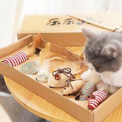 고양이 장난감 세트 낚시대 공 쥐 고양이용품 캣타워