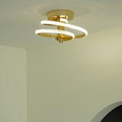 나선 크리스탈 골드 화이트 LED 직부등 20w