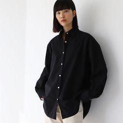 와이드커프스 오버핏 셔츠  블랙