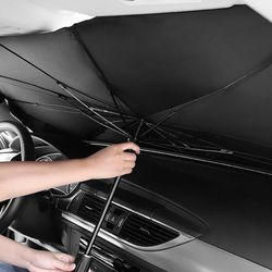 원터치 우산형 차량용햇빛가리개 대형