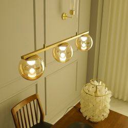 아치 3등 국산 LED 식탁 주방 펜던트 조명