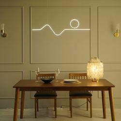 드로잉 골드 국산 LED 식탁등 식탁 조명 40w