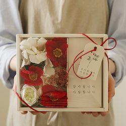 플라워용돈박스 - 실크플라워양귀비 [2color]