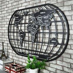 온나 철제 레트로 세계지도 벽걸이 벽장식(중형)