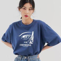 페이스 티셔츠 - DUST BLUE