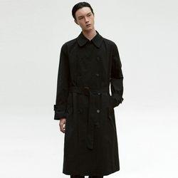 OVERSIZE TRENCH COAT [BLACK]
