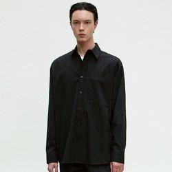 OVERSIZE COTTON SHIRT [BLACK]