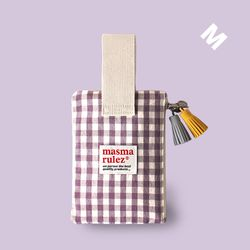 Spring check pouch - Purple