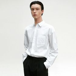 SOLID COTTON SHIRT [WHITE]