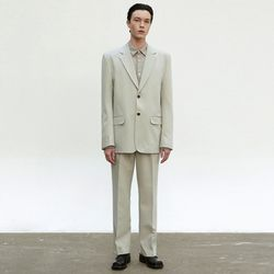 CLASSIC RELAXED SET UP SUIT [LIGHT KHAKI]