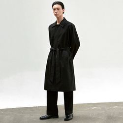 BALMACAN ROBE COAT [BLACK]