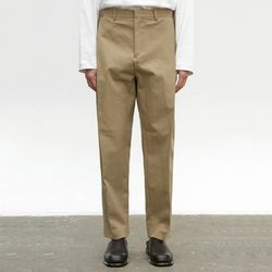 COTTON TAPERED PANTS [BEIGE]