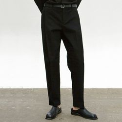 COTTON TAPERED PANTS [BLACK]