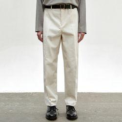 COTTON TAPERED PANTS [ECRU]