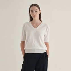 Sunny v-neck Knit - Ivory