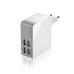 넥스트 해외여행용 USB 4포트 AC 충전기 NEXT-04AC-4P