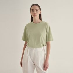 Pastel half sleeve T-shirt - Mint