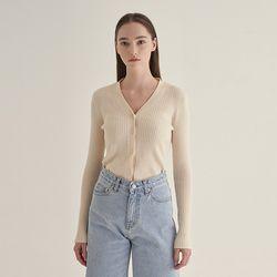 Blossom v-neck Cardigan - Ivory