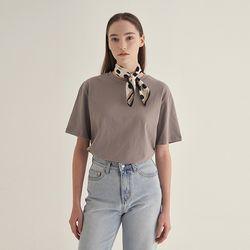 Pastel half sleeve T-shirt - Mocha gray