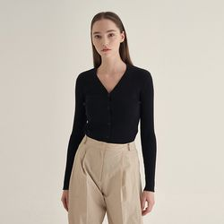 Blossom v-neck Cardigan - Black