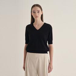 Sunny v-neck Knit - Black