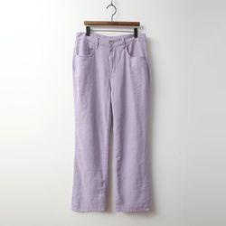 N Linen Pastel Straight Pants