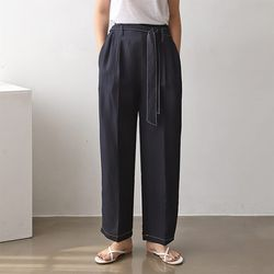 M Linen Stitch Baggy Pants