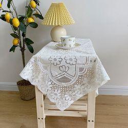 레트로 감성 플라워 레이스 식탁 책상 테이블 매트 S(60x60cm)