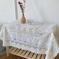 레트로 감성 플라워 레이스 식탁 책상 테이블 매트 M(90x90cm)
