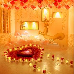 결혼 프로포즈 LED 촛불 풍선 용품 세트 P
