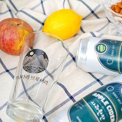 애플잔세트 애플사이더 사과한잔6캔+전용잔 1개