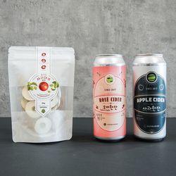 가나다라X홉이든 사과한잔3캔+오미한잔3캔+사과대추 2봉