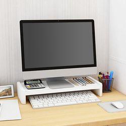 ABS 모니터 받침대 1단 사무실 컴퓨터 노트북 받침 거치대