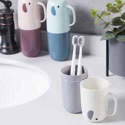 ABM 코끼리 손잡이 양치컵(색상랜덤)