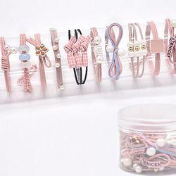 케이스 소녀머리끈 12개입 핑크