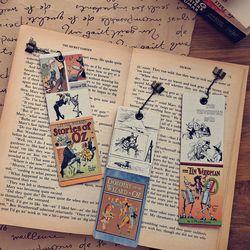 빈티진북마크 클래식 오즈의 마법사 명작 수제 책갈피 책 선물