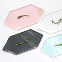 위즈라인 카페 파스텔 육각접시 (4 Color)