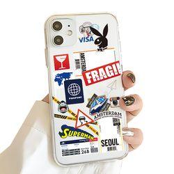 PULU 아이폰 12 미니 꾸미기 스티커 케이스