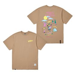 HUNTING OVERSIZED T-SHIRTS LIGHT BROWN