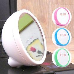 탁상용 시계+거울 탁상거울 전자시계 알람시계