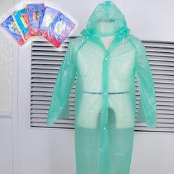 성인 아동 우의 판쵸우의 일회용 비옷 어린이 우비