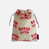 big heart string pouch m