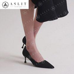 애슬릿 여성 패턴 스틸레토 미들 힐 펌프스 6.5cm