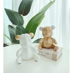 앤틱 베어 저금통 인테리어 골드 소품 귀여운 곰돌이 모형