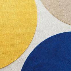 워셔블 포인트 원형러그 100cm 4colors