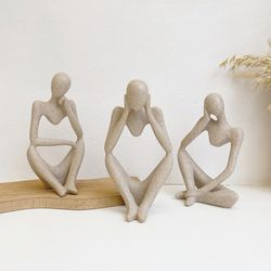 몽상 스톤 오브제 3종 조각 조각상 장식품 감성 인테리어 소품