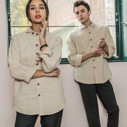 남여공용 바리스타 미용사 쉐프 유니폼셔츠