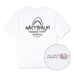 아론 샤크 로고 티셔츠 화이트